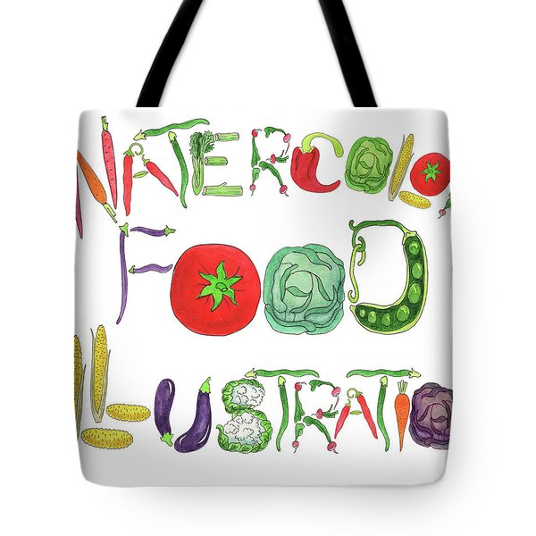 Watercolor Food Illustration  Tote Bag