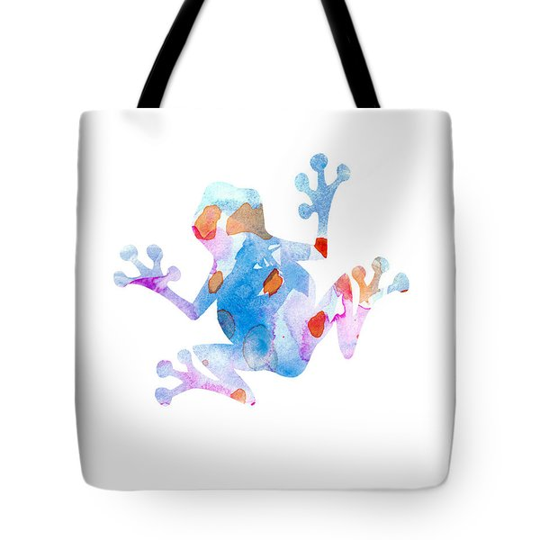 Watercolor Frog Tote Bag by Nursery Art