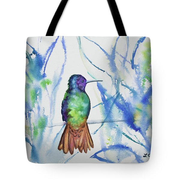 Watercolor - Golden-tailed Sapphire Tote Bag