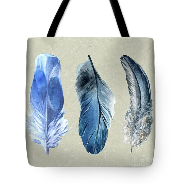 Watercolor Hand Painted Feathers Tote Bag by Heinz G Mielke