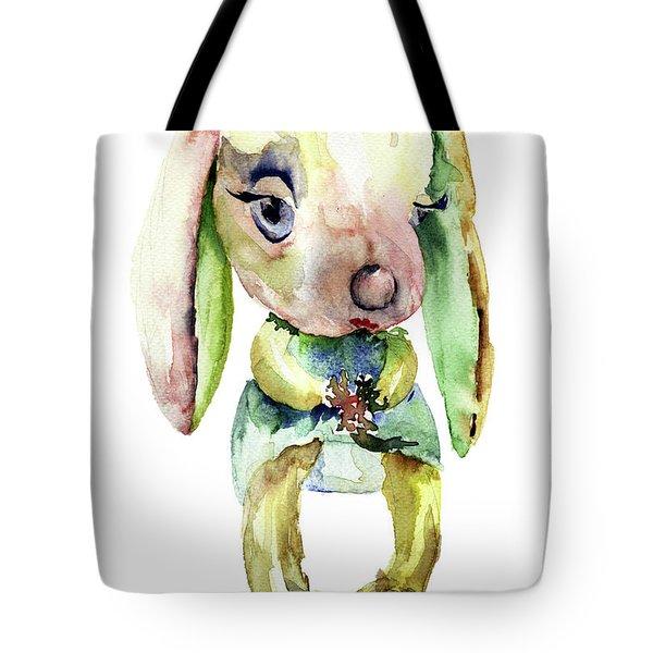 Watercolor Illustration Of Rabbit Tote Bag