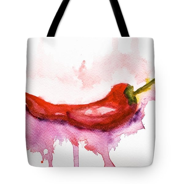 Watercolor Illustration Of Red Hot Chili Pepper  Tote Bag