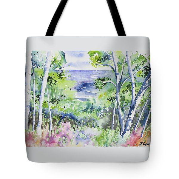 Watercolor - Lake Superior Impression Tote Bag