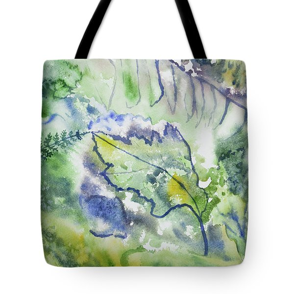 Watercolor - Leaves And Textures Of Nature Tote Bag