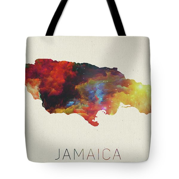 Watercolor Map Of Jamaica Tote Bag