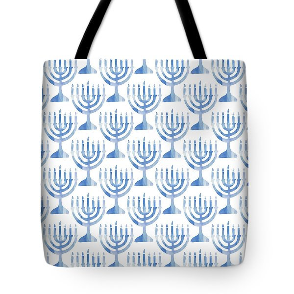 Watercolor Menorahs- Art By Linda Woods Tote Bag