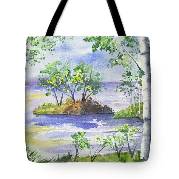 Watercolor - Minnesota North Shore Landscape Tote Bag