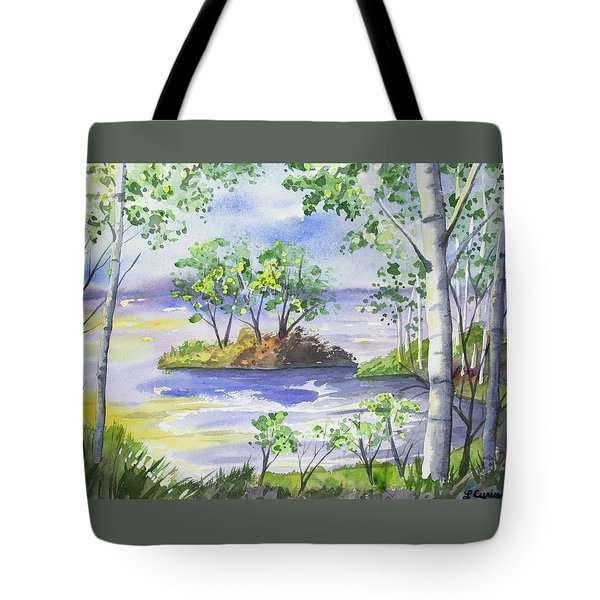 Watercolor - Minnesota North Shore Landscape Tote Bag