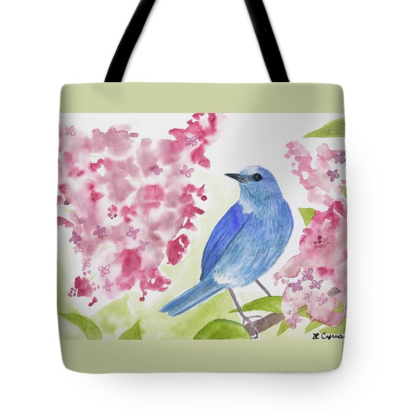 Watercolor - Mountain Bluebird Tote Bag