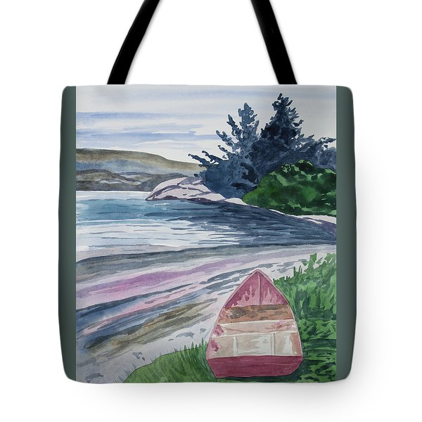 Watercolor - New Zealand Harbor Tote Bag