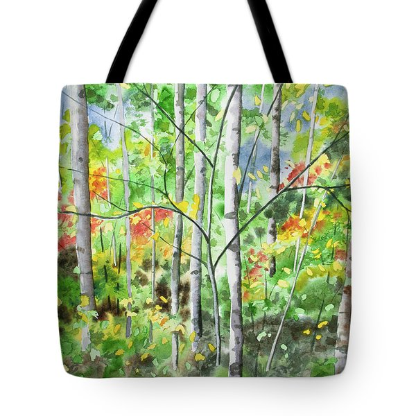 Watercolor - Northern Forest Tote Bag