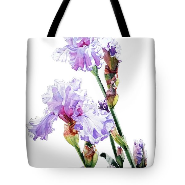 Watercolor Of A Tall Bearded Iris I Call Lilac Iris Wendi Tote Bag