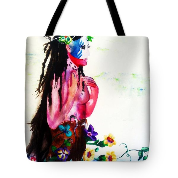 Watercolor Of Chippewa In The Water By Ayasha Loya Tote Bag