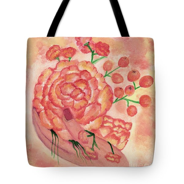 watercolor painting, FRAGILE by Saribelle Tote Bag