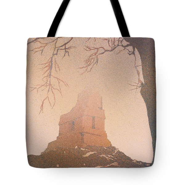 Tote Bag featuring the painting Watercolor Painting Of Mayan Temple- Tikal, Guatemala by Ryan Fox