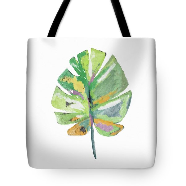 Tote Bag featuring the mixed media Watercolor Palm Leaf- Art By Linda Woods by Linda Woods