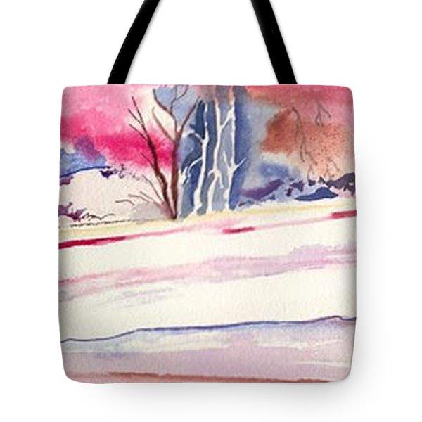 Watercolor River Tote Bag