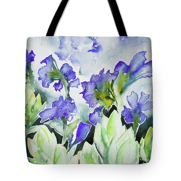 Watercolor - Rocky Mountain Wildflowers Tote Bag