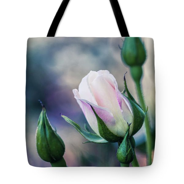 Tote Bag featuring the photograph Watercolor Rose by Laura Roberts