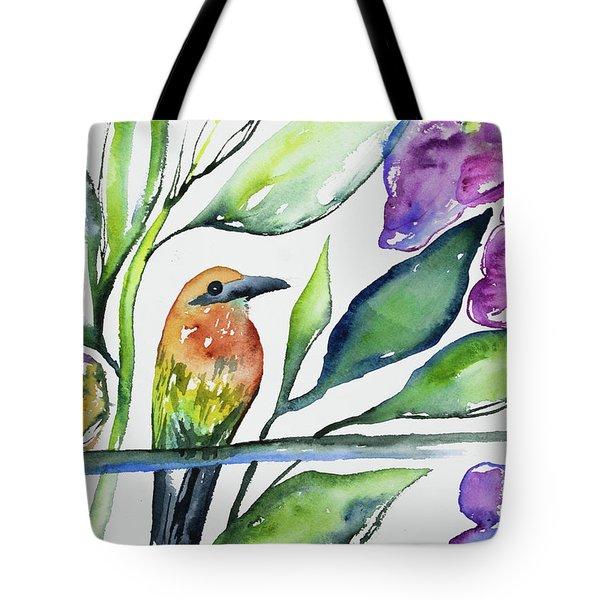 Watercolor - Rufous Motmot Tote Bag