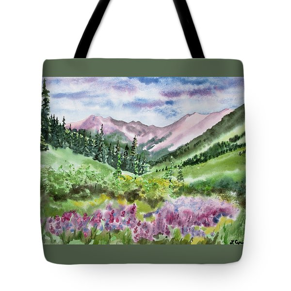 Watercolor - San Juans Mountain Landscape Tote Bag