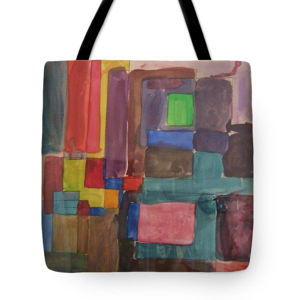 Tote Bag featuring the painting Watercolor Shapes by Barbara Yearty