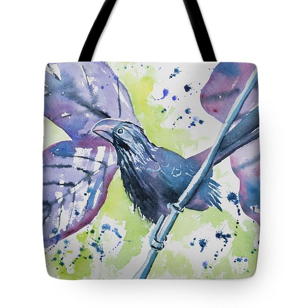 Watercolor - Smooth-billed Ani Tote Bag