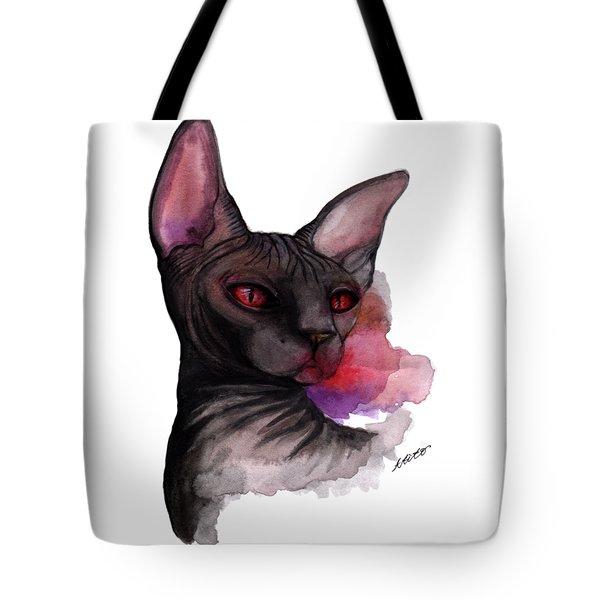 Watercolor Sphinx Tote Bag