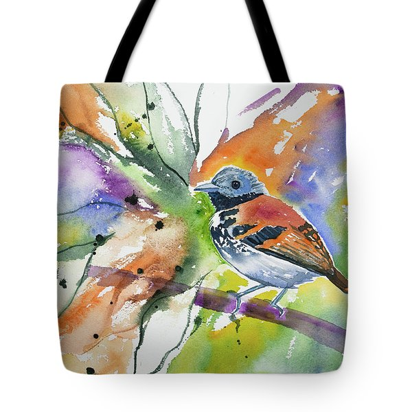 Watercolor - Spotted Antbird Tote Bag