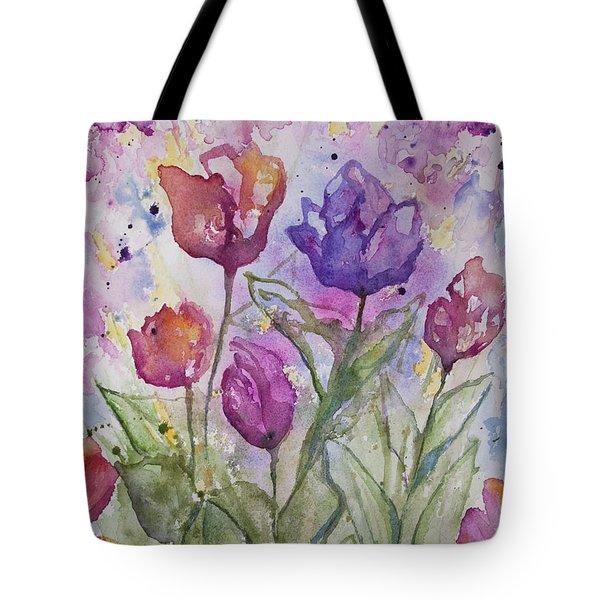 Watercolor - Spring Flowers Tote Bag
