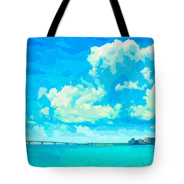 Watercolor Spring On Sarasota Bay Tote Bag