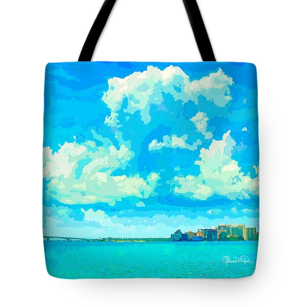Watercolor Spring On Sarasota Bay Tote Bag by Susan Molnar