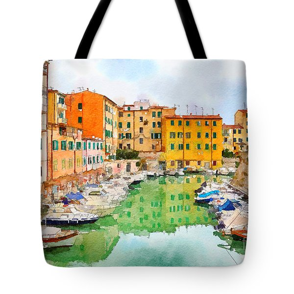 Tote Bag featuring the digital art Watercolor Style by Ariadna De Raadt