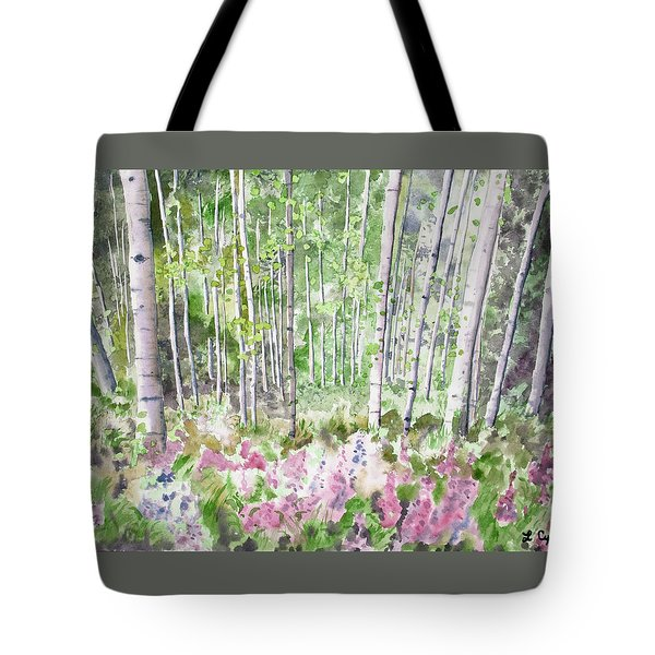 Watercolor - Summer Aspen Glade Tote Bag