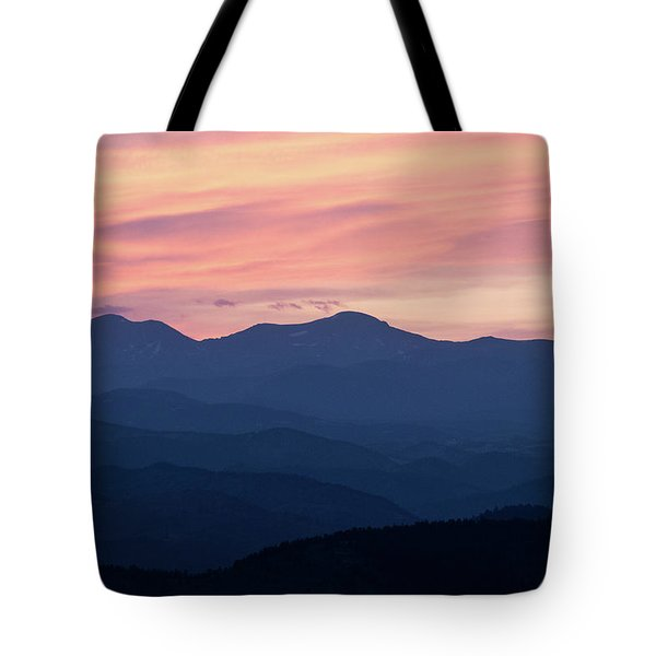 Watercolor Sunset Tote Bag
