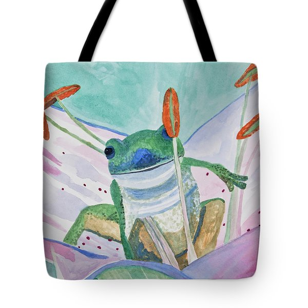 Watercolor - Tree Frog Tote Bag