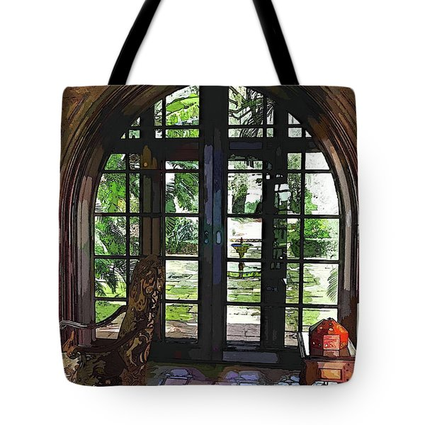 Watercolor View To The Past Tote Bag