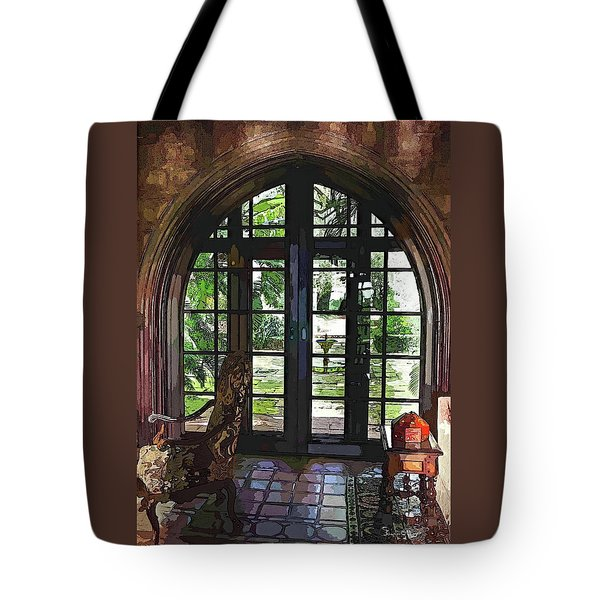 Watercolor View To The Past Tote Bag by Susan Molnar
