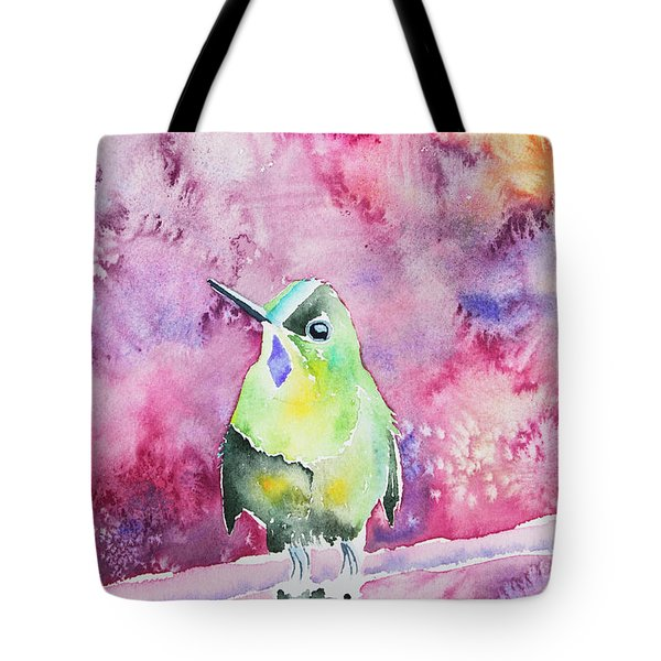 Watercolor - Violet-tailed Sylph Tote Bag