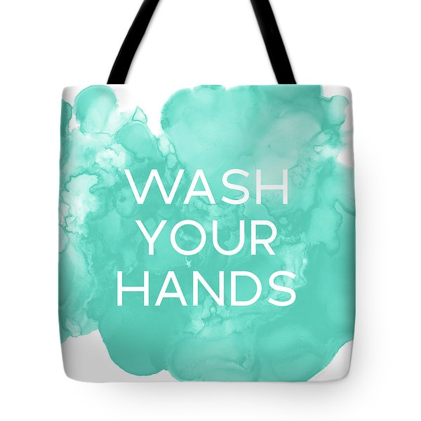 Watercolor Wash Your Hands- Art By Linda Woods Tote Bag