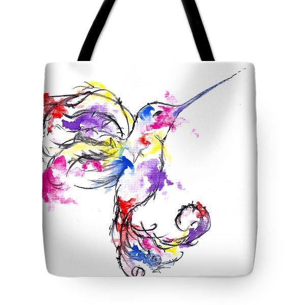 Watercolour Hummingbird Tote Bag