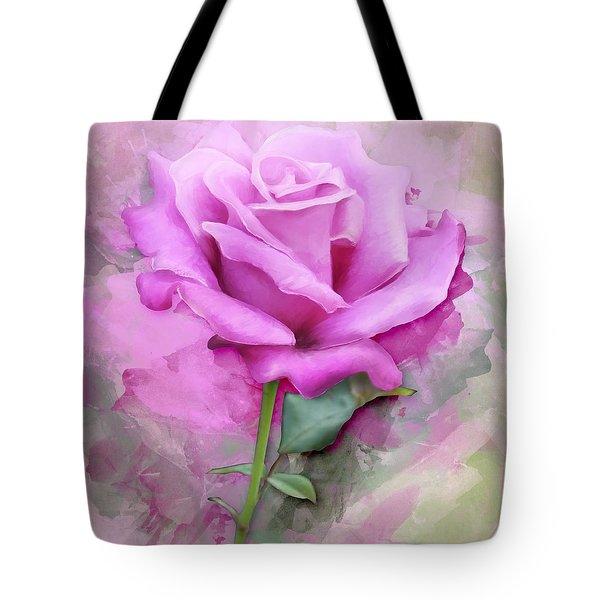Watercolour Pastel Lilac Rose Tote Bag