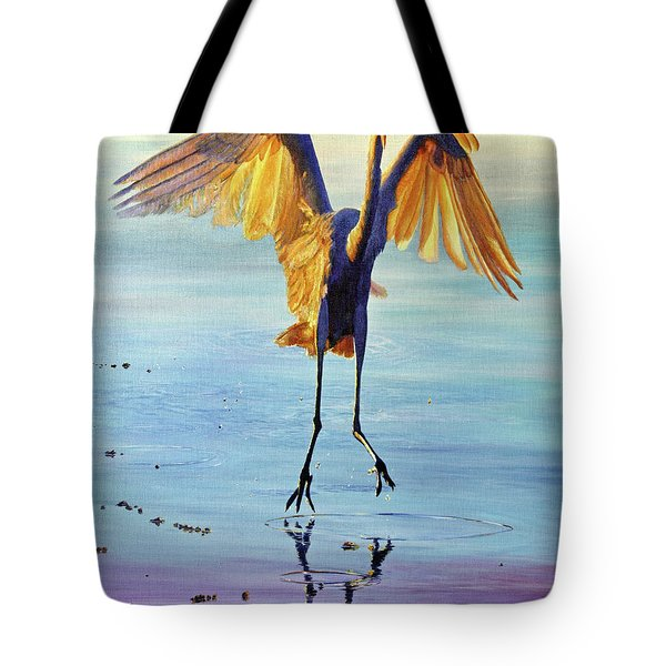 Tote Bag featuring the painting Waterdance by AnnaJo Vahle
