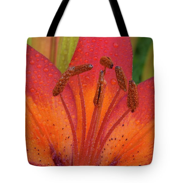 Tote Bag featuring the photograph Watered Lily by Jean Noren