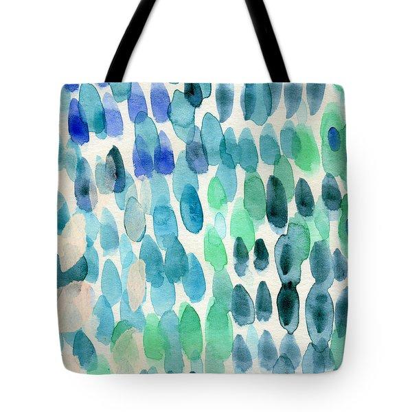 Waterfall 2- Abstract Art By Linda Woods Tote Bag by Linda Woods