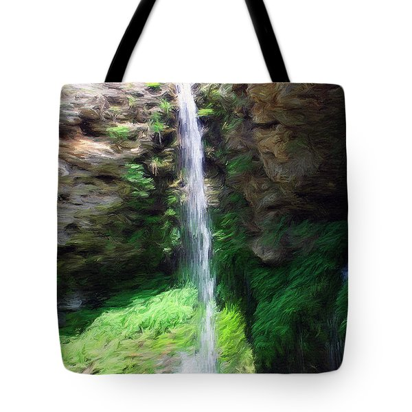 Tote Bag featuring the painting Waterfall 2 by Jeffrey Kolker