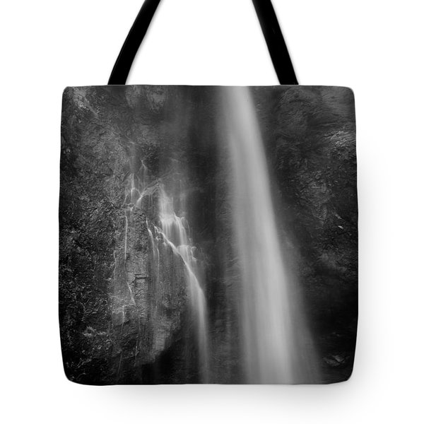 Waterfall 5830 B/w Tote Bag by Chris McKenna