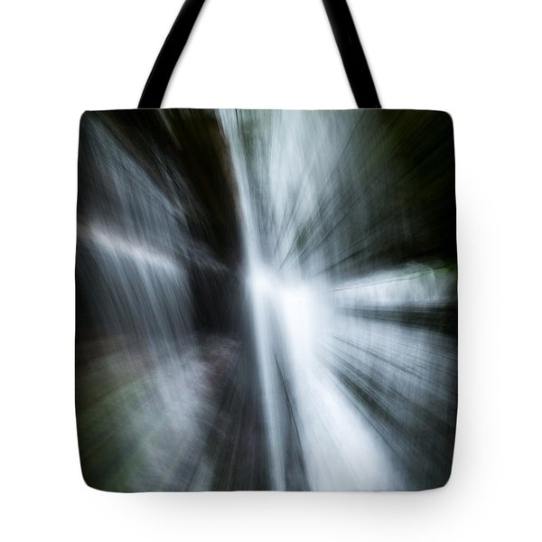 Waterfall Abstract Tote Bag by Chris McKenna