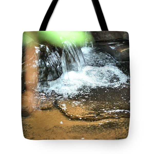Waterfall And Pool On Soap Creek Tote Bag