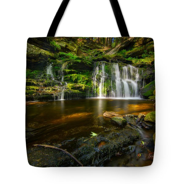 Waterfall At Day Pond State Park Tote Bag